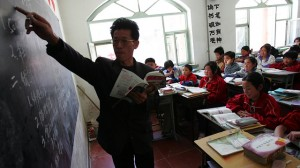 teacher on the board
