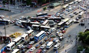 China traffic jam city
