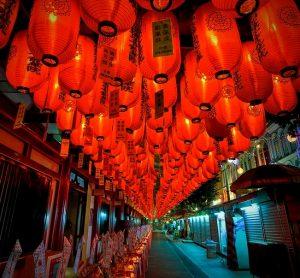 Chinatown singapore lanterns for the lantern festival