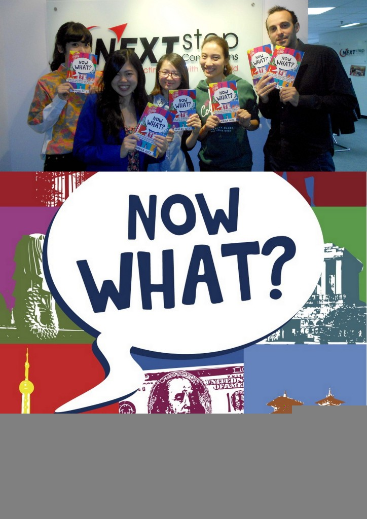 Now What - Next Step Connections is proud being featured in 2009 Alumni Monika Lutz' book about her gap year journey around the world.