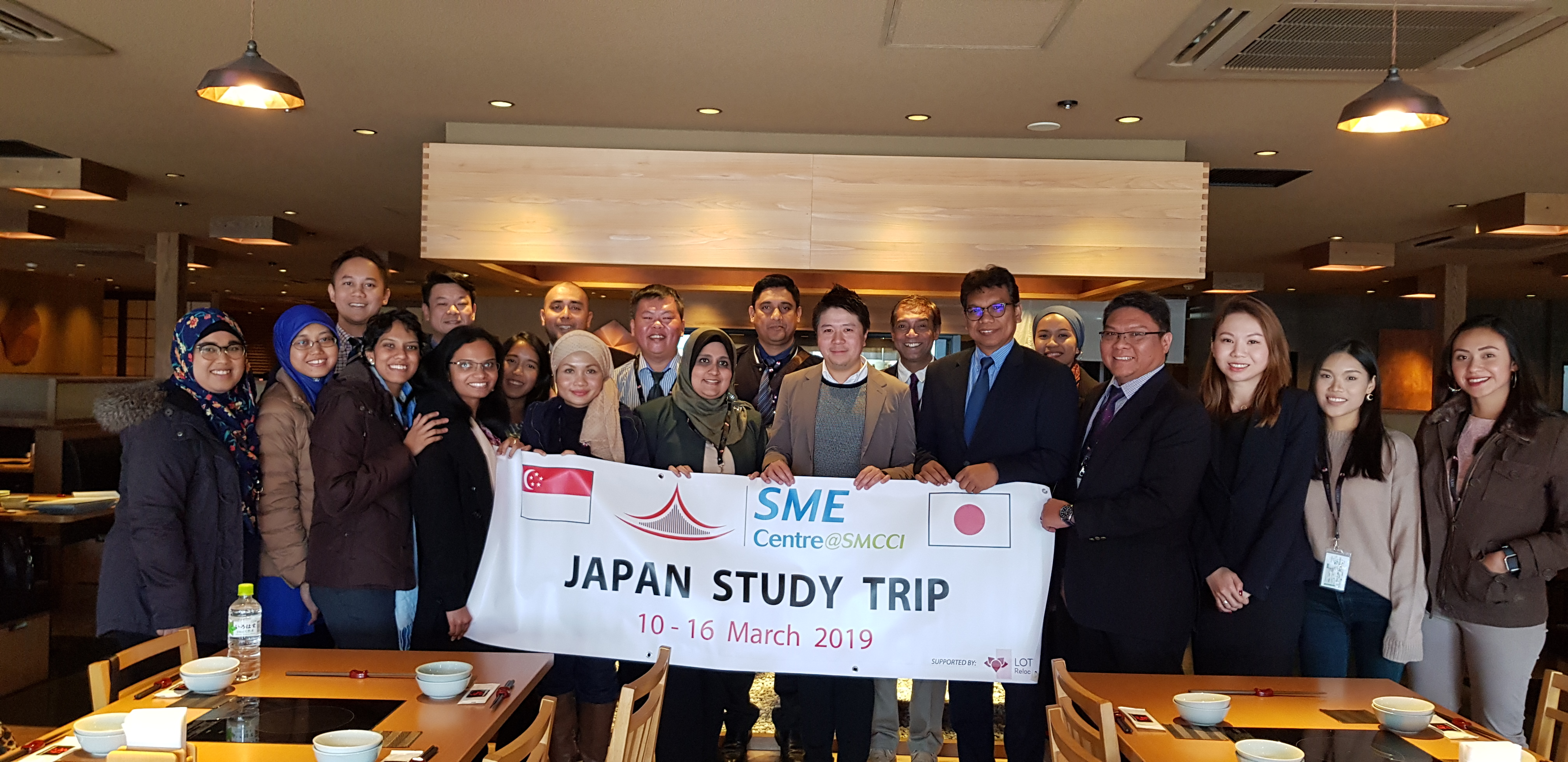 Learning Exploration for 19 officiers of the SME Center@SMCCI in Singapore to study the development of the Halal Market in Japan